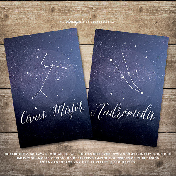 image about Starry Night Printable identified as Constellation Celestial Desk Figures, Starry Evening Galaxy Astronomy Wedding ceremony Desk Quantities Playing cards, Location Wedding ceremony Desk Names, Armed service Blue White Marriage ceremony