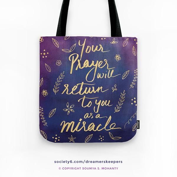 Blue-Purple-Motivational-Spiritual-Quote-Tote-Bag-Faith-Miracle
