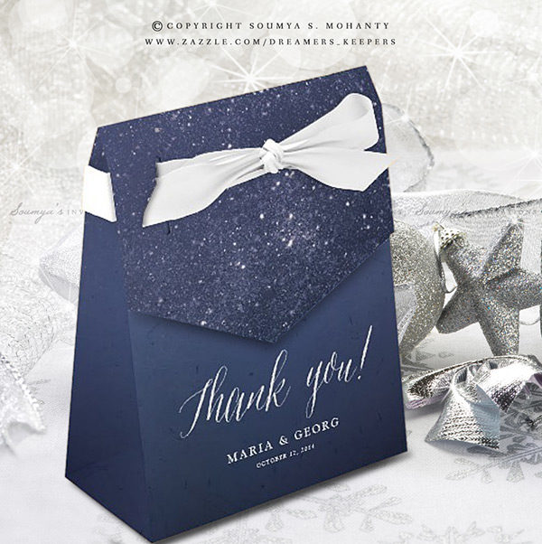 Wedding Favor Boxes.Starry Night Celestial Star Wedding Favor Boxes Night Sky Twinkling Stars Favor Boxes Navy Blue White Wedding Favor Bags
